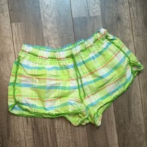 Victoria's Secret Green Plaid Sleep Shorts